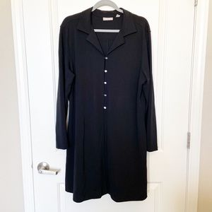NORDSTROM • Black Button Up Tunic Jacket Size XL